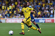 Oxford United midfielder Shandon Baptiste (26) sprints forward with the ball during the EFL Sky Bet League 1 match between Wycombe Wanderers and Oxford United at Adams Park, High Wycombe, England on 15 September 2018.