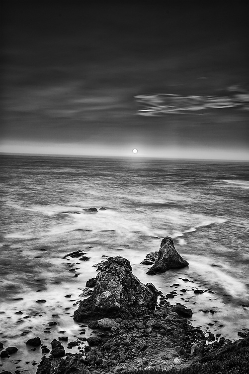 Limited edition photograph of sunset along the Mendocino coast of California.