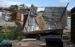 South Africa - Cape Town - 02 -October - 2020  Shacks at COVID-19 informal settlement near N2 along faure road have been flattened by gale force winds which have uprooted trees in other areas of Cape Town Photographer Ayanda Ndamane /African News Agency (ANA)