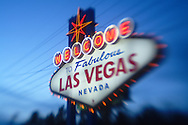 """The world famous """"Welcome to Fabulous Las Vegas Nevada"""" sign located on the south end of the Las Vegas strip."""
