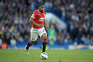 Antonio Valencia of Manchester United in action. Barclays Premier league match, Chelsea v Manchester Utd at Stamford Bridge Stadium in London on Saturday 18th April 2015.<br /> pic by John Patrick Fletcher, Andrew Orchard sports photography.
