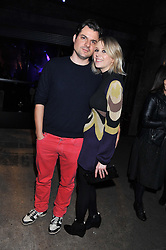 DAN PIRRIE and TICKY HEDLEY-DENT at a party to celebrate the launch of the new Vertu Constellation phone - the luxury phonemakers first touchscreen handset, held at the Farmiloe Building, St.John Street, Clarkenwell, London on 24th November 2011.