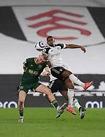 Football - 2020 / 2021 Premier League - Fulham vs Sheffield United - Craven Cottage<br /> <br /> Fulham's Ivan Cavaleiro battles for possession with Sheffield United's Oli McBurnie.<br /> <br /> COLORSPORT/ASHLEY WESTERN