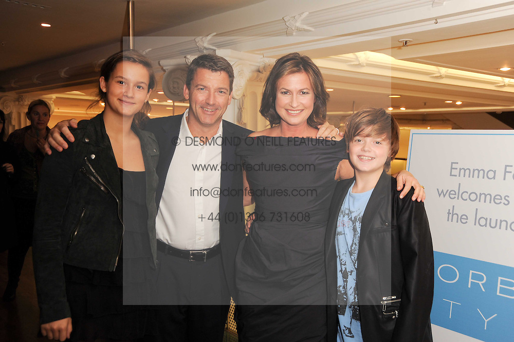 EMMA FORBES, her husband GRAHAM CLEMPSON and their children SAM & LILY at the launch of Forbes Style - Emma Forbes' new online style website, held at Hix at Selfridges, 400 Oxford Street, London on 29th September 2010.