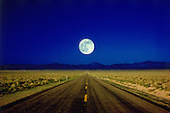 Driving into the Night, Nevada, U.S. Route 50, Loneliest Highway in America,
