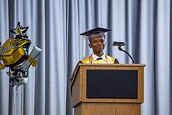 Salutatorian Jair Smith.  St. Thomas/St. John Seventh Day Adventist School Commencement Service.  Bertha C. Boschulte Auditorium.  St. Thomas, USVI.  12 June 2016.  © Aisha-Zakiya Boyd