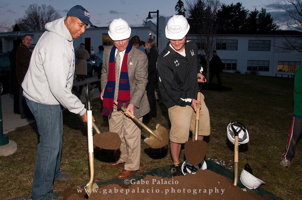 The groundbreaking ceremony for the Harvey Athletic Center at The Harvey School in Katonah, NY on April 5, 2011. (Photo by Gabe Palacio)