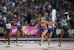 August 11, 2017 - London, England, United Kingdom - Dafne Schippers of Nederlands winning the 200 meter  final in London at the 2017 IAAF World Championships athletics at the London Stadium in London on August 11, 2017. (Credit Image: © Ulrik Pedersen/NurPhoto via ZUMA Press)