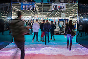 Waves at the entrance -The London Boat Show opens at the Excel centre. London 06 Jan 2017