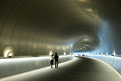 Approach tunnel to Miho Museum designed by IM Pei in Japan