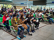 PAJU, GYEONGGI, SOUTH KOREA: South Korean Christians participate in a prayer at Dorasan Station on the South Korean edge of the DMZ. The station was built in the early 2000s during a thaw in relations between the Koreas. It has never been used and is now a tourist site. Tourism to the Korean DeMilitarized Zone (DMZ) has increased as the pace of talks between South Korea, North Korea and the United States has increased. Some tours are sold out days in advance.      PHOTO BY JACK KURTZ