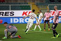 Esultanza Gol Stephan El Shaarawy Roma Goal celebration <br /> Palermo 12-03-2017 Stadio La Favorita Football Calcio Serie A 2016/2017 Palermo - Roma Foto Gino Mancini / Insidefoto