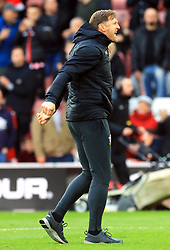 Southampton manager Ralph Hasenhuttl celebrate after the final whistle