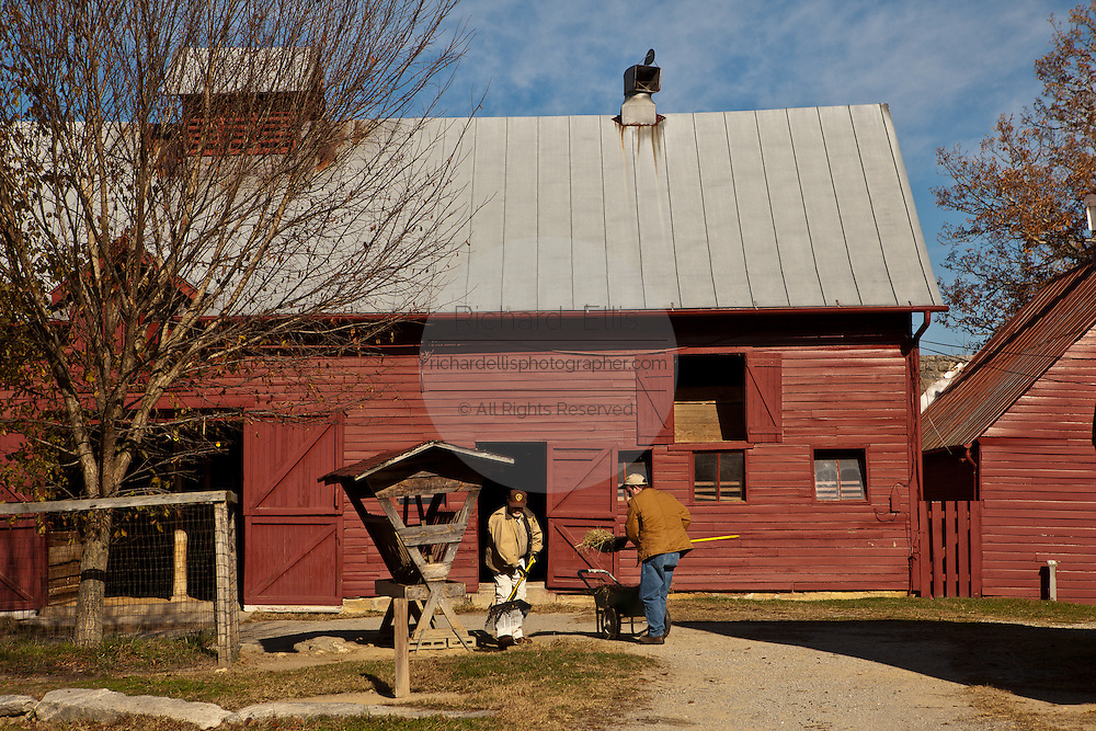 The goat barn the home of author and poet Carl Sandburg in Flat Rock, NC