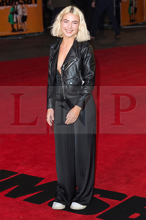 © Licensed to London News Pictures. 22/02/2016. JESS WOODLEY attends the GRIMSBY Film premiere. The film centres around a black-ops spy whose brother is a football hooligan.  London, UK. Photo credit: Ray Tang/LNP