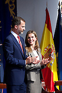 100213 Prince Felipe and Princess Letizia Central event of the Feast Day of the Police