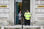 General view of Cabinet Office at 70 Whitehall in London, after a Cobra meeting in London, Wednesday, March 18, 2020. For most people, the new coronavirus causes only mild or moderate symptoms, such as fever and cough. For some, especially older adults and people with existing health problems, it can cause more severe illness, including pneumonia.(Photo/Vudi Xhymshiti)