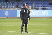 Hope Powell manager of Brighton and hove Albion Women gives instructions during the FA Women's Super League match between Everton Women and Brighton and Hove Albion Women at the Select Security Stadium, Halton, United Kingdom on 18 October 2020.