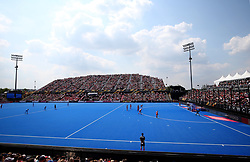 General view during an England penalty corner during the Vitality Women's Hockey World Cup pool B match at The Lee Valley Hockey and Tennis Centre, London.