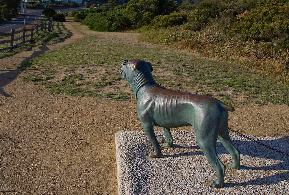 The Dog Line at Eaglehawk Neck, Tasman Peninsula, marking the isthmus where snarling hounds were kept to deter convicts from escaping from the prison colony at Port Arthur - unlike bushranger Martin Cash, from Enniscorth, Wexford, Ireland, who escaped twice!..