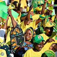 Dar Es Salaam, Tanzania 30 October 2010<br /> Tanzanian partisans of CCM party gathered in a political rally before the presidential elections. <br /> The European Union has launched an Election Observation Mission in Tanzania to monitor the general elections, responding to the Tanzanian government invitation to send observers for all aspects of the electoral process.<br /> The EU sent this observation mission led by Chief Observer David Martin, a member of the European Parliament. <br /> PHOTO: EZEQUIEL SCAGNETTI