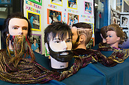 Goshen, New York - Male and female mannequin heads were on display at the cosmetology exhibit duringOrange-Ulster BOCES CTE (Career and Technical Education) media day on Feb. 18. 2016.