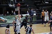 Basketball: Deutschland, 1. Bundesliga, Hamburg Towers -  Alba Berlin, Hamburg, 23.03.2021<br /> Maik Kotsar (Toers, l.) - Christ Koumadje (Alba)<br /> © Torsten Helmke