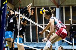 Lorena Lorber Fijok of Nova KBM Branik during 3rd Leg Volleyball match between Calcit Volley and Nova KBM Maribor in Final of 1. DOL League 2020/21, on April 17, 2021 in Sportna dvorana, Kamnik, Slovenia. Photo by Matic Klansek Velej / Sportida