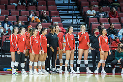 BLOOMINGTON, IL - October 23:  during a college Women's volleyball match between the ISU Redbirds and the Drake Buldogs on October 23 2021 at Illinois State University in Normal, IL. (Photo by Alan Look)