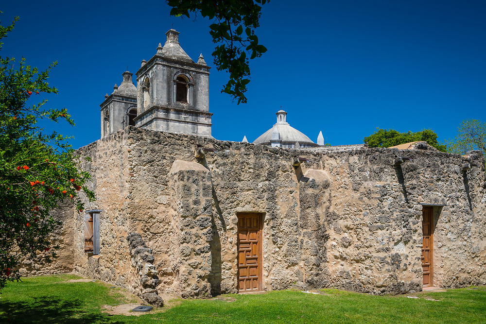 """Mission Nuestra Señora de la Purísima Concepción de Acuña (also Mission Concepcion) was established in 1716 as Nuestra Señora de la Purísima Concepción de los Hainais in East Texas. It was originally meant to be a base for converting the Hasinai. The mission was moved in 1731 to San Antonio. After its relocation most of the people in the mission were Pajalats who spoke a Coahuiltecan language. Founded by Franciscan friars, this is the best preserved of the Texas missions. <br /> The Battle of Concepción was fought here on October 28, 1835 between Mexican troops under Colonel Domingo Ugartechea and Texian insurgents led by James Bowie and James Fannin. The 30-minute engagement, is described as """"the first major engagement of the Texas Revolution"""" by historian J.R. Edmondson. <br /> Located at 807 Mission Road, Concepcion was designated a National Historic Landmark on April 15, 1970 and is part of San Antonio Missions National Historical Park. Restoration of the mission's interior was completed in March 2010 after six months of work. Catholic Mass is still held every Sunday."""