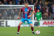 Scunthorpe United midfielder Ryan Colclough during the The FA Cup 1st round match between Scunthorpe United and Burton Albion at Glanford Park, Scunthorpe, England on 10 November 2018.