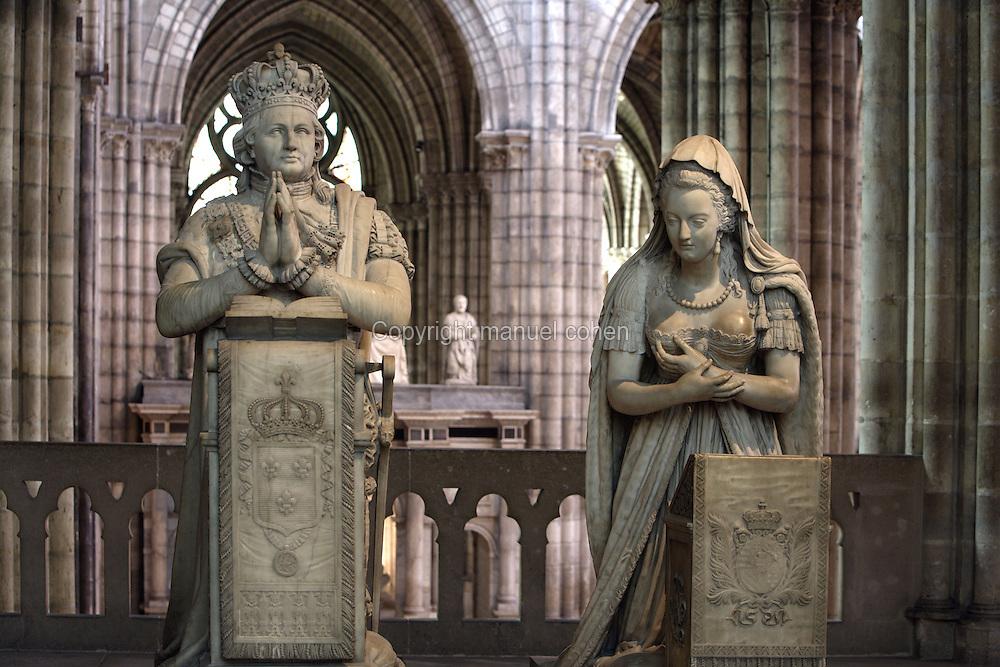 Memorial to Louis XVI (1754 - 1793) and Marie Antoinette (1755 - 1793), 1819, Marble, Edme Gaulle and Pierre Petitot, Abbey church of Saint Denis, Seine Saint Denis, France. Picture by Manuel Cohen
