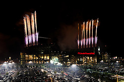 A general view from outside of Lincoln Financial Field during the Fireworks display after Philadelphia Eagles NFL Flight Night at Lincoln Financial Field in Philadelphia, Pennsylvania on Sunday August 2nd 2009. (Photo by Brian Garfinkel)