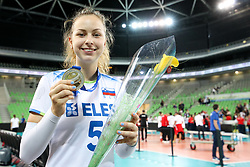 Pia Blazic of Slovenia after the volleyball match between National team of Turkey and Slovenia in Gold Medal game of Womens U23 World Championship 2017, on September 17, 2017 in SRC Stozice, Ljubljana, Slovenia. Photo by Morgan Kristan / Sportida