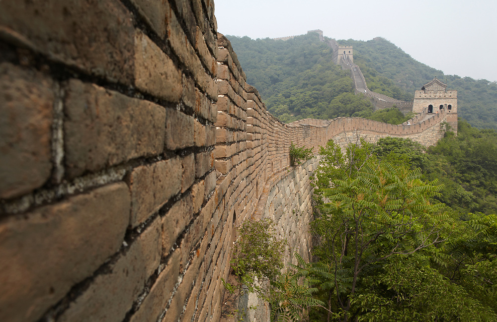 The Mutianyu Section of the Great Wall of China, one of the most restored sections of the wall.