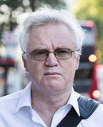 © Licensed to London News Pictures. 16/07/2018. London, UK. Former Brexit secretary David Davis leaves his London house ahead of crucial Parliamentary votes on a deal with the EU. Photo credit: Peter Macdiarmid/LNP