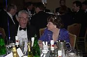 Michael Cole and Anne Widdecombe. The British Book Awards. Hilton, London. 22 February 2001. © Copyright Photograph by Dafydd Jones 66 Stockwell Park Rd. London SW9 0DA Tel 020 7733 0108 www.dafjones.com