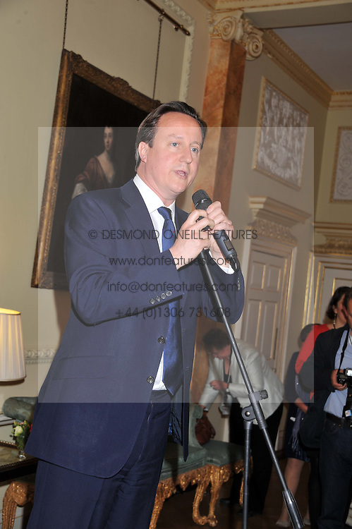 The Prime Minister DAVID CAMERON at a reception for Women in Media hosted by the Prime Minister David Cameron at 10 Downing Street, London on16th May 2013.