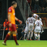 CFR Cluj's celebrates his goal during their UEFA Champions League Group H matchday 3 soccer match Galatasaray between CFR Cluj at the TT Arena Ali Sami Yen Spor Kompleksi in Istanbul, Turkey on Tuesday 23 October 2012. Photo by Aykut AKICI/TURKPIX