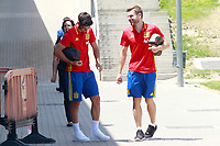 Spain's Marco Asensio (l) and Asier Illarramendi after training session. June 8,2017.(ALTERPHOTOS/Acero)