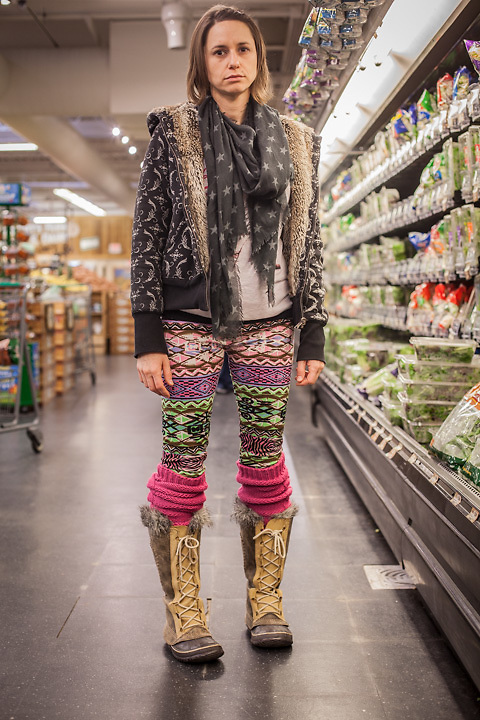 """Cameron Wright at Sprouts grocery store in Edmonds, Oklahoma.  """"I'm into aquaponics, my kids are home schooled, and my outfit is all second-hand.""""  cameronwright630@gmail.com"""