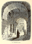 St. Stephen's Gate, Jerusalem From the book 'Those holy fields : Palestine, illustrated by pen and pencil' by Manning, Samuel, 1822-1881; Religious Tract Society (Great Britain) Published in 1874