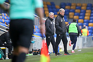 AFC Wimbledon manager Glyn Hodges looking at pitch during the The FA Cup match between AFC Wimbledon and Crawley Town at Plough Lane, London, United Kingdom on 29 November 2020.