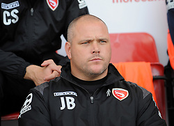 Morecambe Manager Jim Bentley - Mandatory byline: Neil Brookman/JMP - 07966 386802 - 03/10/2015 - FOOTBALL - Globe Arena - Morecambe, England - Morecambe FC v Bristol Rovers - Sky Bet League Two