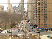 Columbus Circle looking over Central Park South.