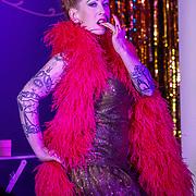 London,England,UK. 22th May 2017. Oh! Carolina *Bristol, UK preforms at the London Burlesque Festival 2017 - Tattoo Revue at Moth Club, Hackney,London,UK. by See Li