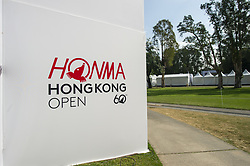 November 22, 2018 - Hong Kong, China - A General view showing a board which displayed the logo of the Honma Hong Kong Open 2018 in Hong Kong, China. 22 November 2018. (Credit Image: © Harry Wai/NurPhoto via ZUMA Press)