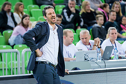 Jurica Golemac, Head coach of Sixt Primorska during basketball match between KK Petrol Olimpija and KK Sixt Primorska in Playoffs of Liga Nova KBM, on March 30, 2018 in Arena Stozice, Ljubljana, Slovenia. Photo by Ziga Zupan / Sportida