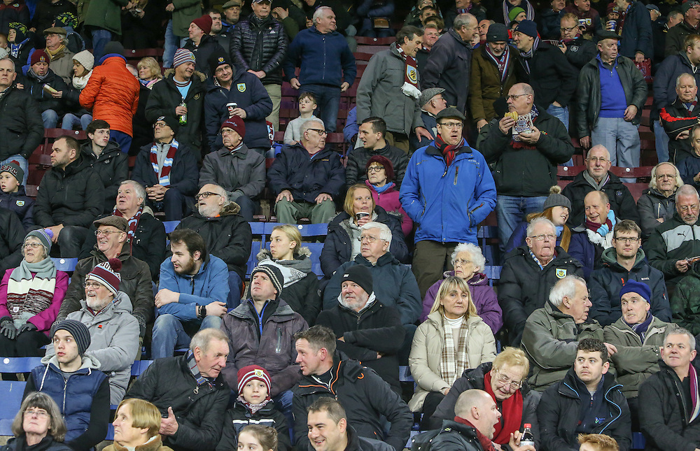 Burnley fans soak up the atmosphere before the match<br /> <br /> Photographer Alex Dodd/CameraSport<br /> <br /> Emirates FA Cup Third Round Replay - Burnley v Sunderland - Tuesday 17th January 2017 - Turf Moor - Burnley<br />  <br /> World Copyright © 2017 CameraSport. All rights reserved. 43 Linden Ave. Countesthorpe. Leicester. England. LE8 5PG - Tel: +44 (0) 116 277 4147 - admin@camerasport.com - www.camerasport.com
