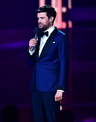 Jack Whitehall on stage at the Brit Awards 2019 at the O2 Arena, London. PRESS ASSOCIATION PHOTO. Picture date: Wednesday February 20, 2019. See PA story SHOWBIZ Brits. Photo credit should read: Victoria Jones/PA Wire. EDITORIAL USE ONLY.